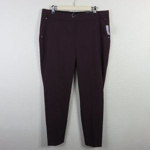 Maurices Pull On Skinny Ankle Mid Rise Pants